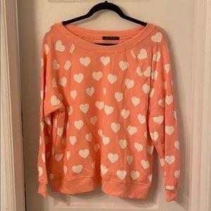 Wildfox heart sweatshirt - M